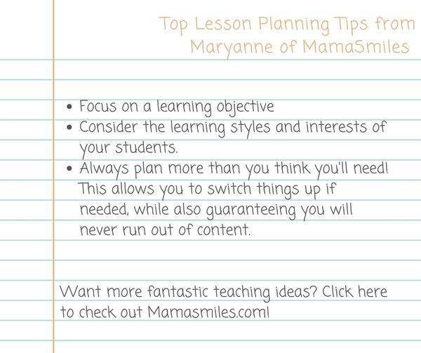 Tips from Maryanne of Mamasmiles
