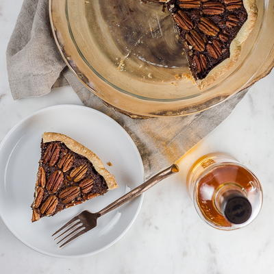 Chocolate Pecan Pie with Rum