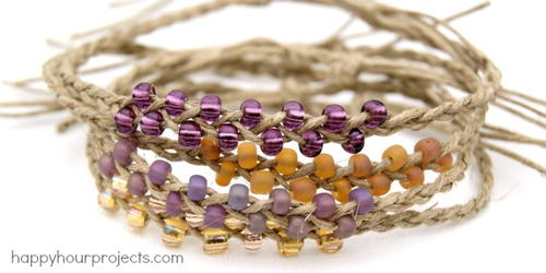 10-Minute Braided Bead Bracelets