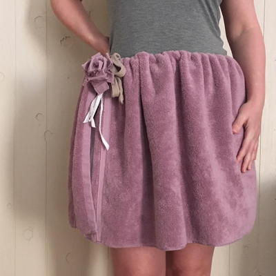 No Sew Terry Cloth Skirt Tutorial