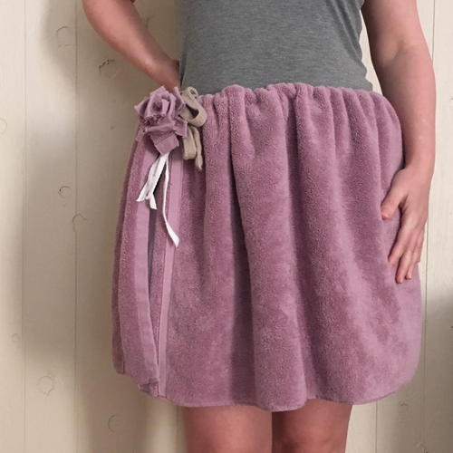 Terrycloth Towel Skirt