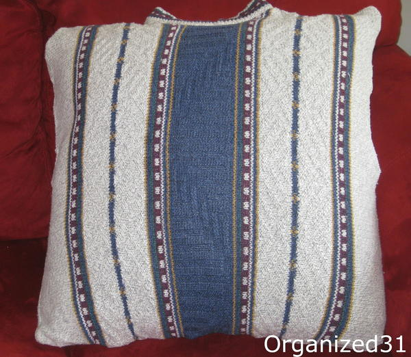 Easy DIY Sweater Pillow