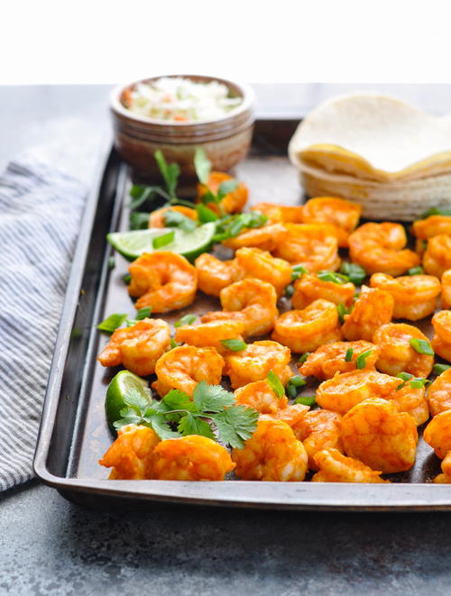 20-Minute Sheet Pan Shrimp Tacos