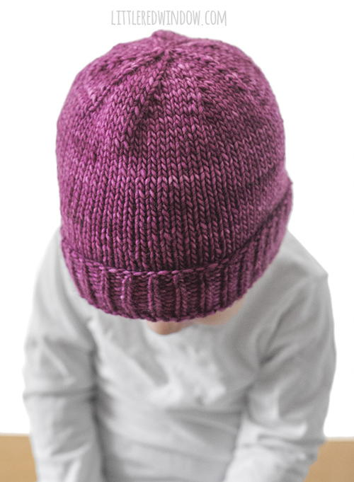 Easy Folded Brim Baby Hat