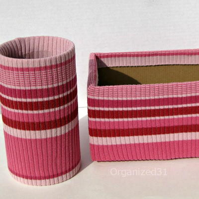 Upcycled Desk Organizers from Sweaters