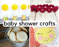 30 Cute and Cuddly DIY Baby Shower Crafts