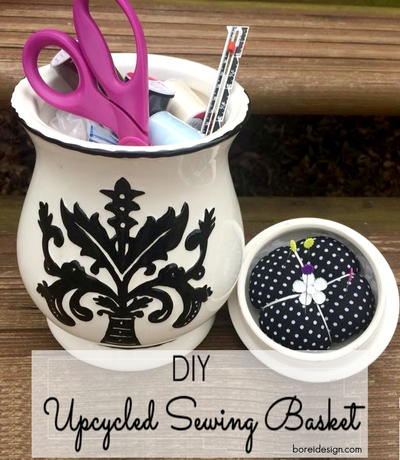 DIY Upcycled Sewing Organizer