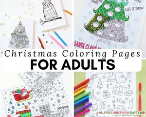 Christmas Coloring Pages for Adults Medium ID