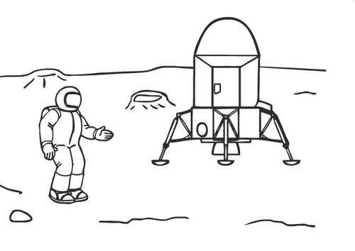 Trip to the Moon Online Coloring Page