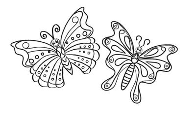 Winged Butterfly Beauty Online Coloring