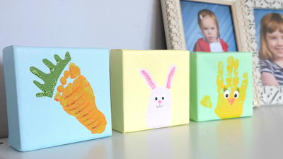 Easter Handprint and Footprint Canvas Critters_2