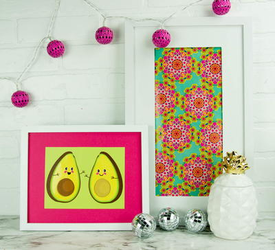 DIY Wall Art From Gift Wrap