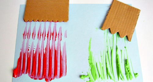 Homemade Painting Tools for Preschoolers