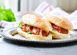 5-Ingredient Dump-and-Bake Meatball Subs