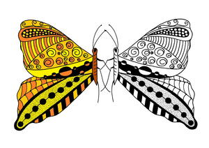 Butterfly Tango Adult Coloring Page