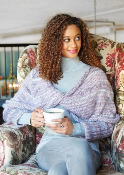Lavender Wrapped Knit Sweater