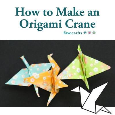 How To Make An Origami Crane FaveCrafts.com