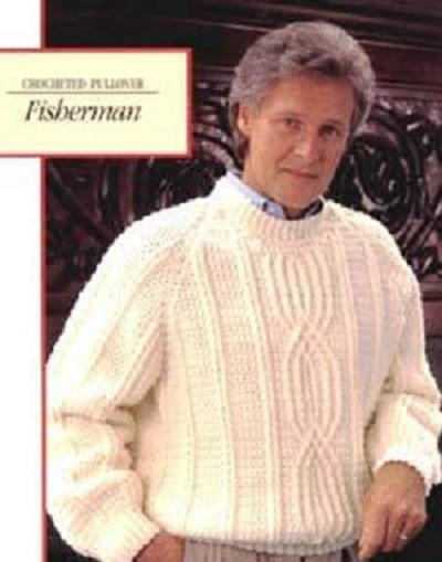 Fishermans Crocheted Pullover