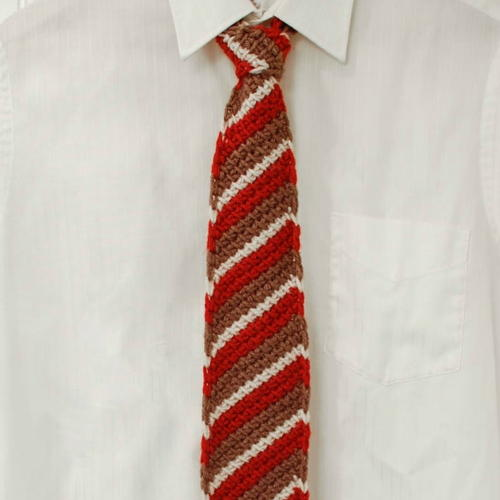 Tunisian Striped Tie