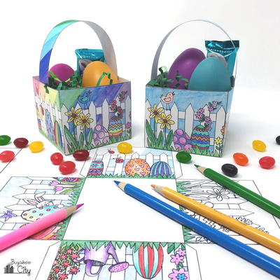 Color-Your-Own Easter Basket