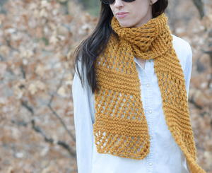 Honeycombs Easy Summer Knit Scarf