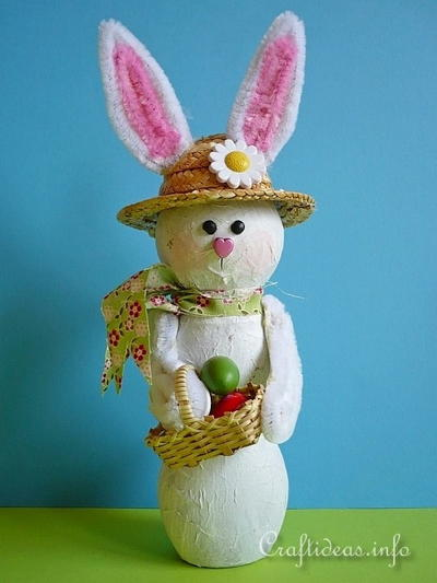 Recycled Bottle Easter Bunny