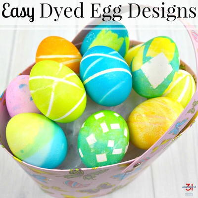 Dyed Egg Designs
