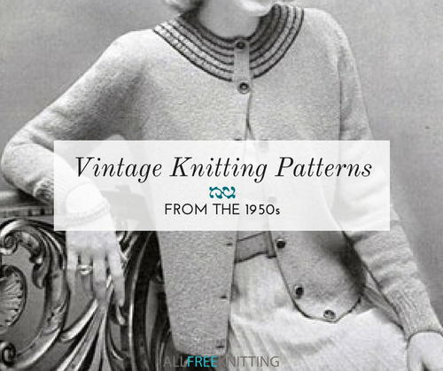 4b925b943 18 Vintage Knitting Patterns from the 1950s