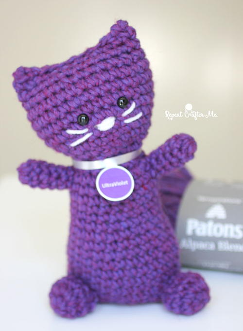 Purrfectly Purple Patons Crochet Kitty