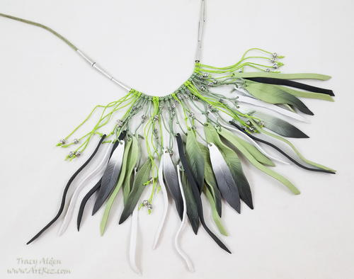 Feather Inspired Boho Necklace with Sculpey Soufflé