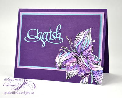 Cherish Colouring Card