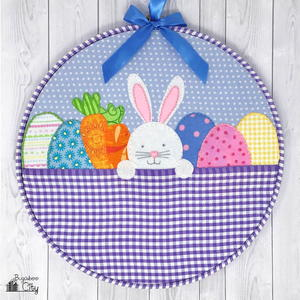 Easter Bunny Embroidery Hoop Art