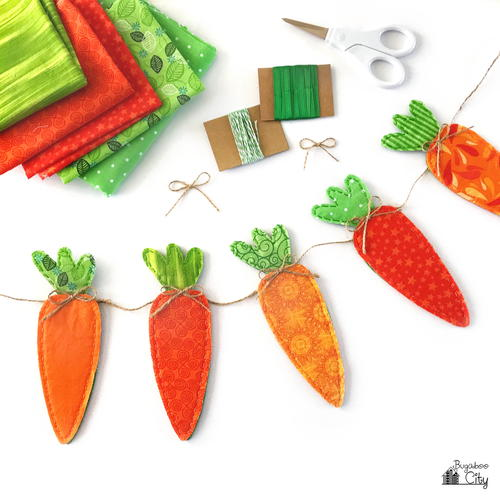DIY Carrot Banner for Easter