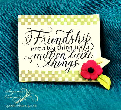 Stamped Polymer Clay Friendship Pin