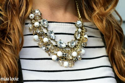 DIY Teardrop Statement Necklace