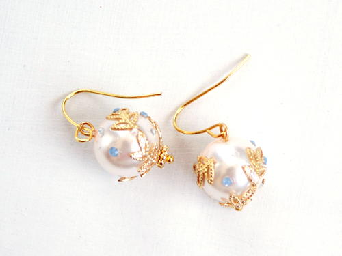 Embellished Pearl Earrings