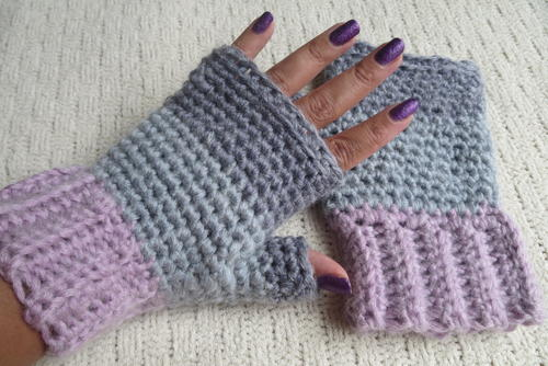 3 Shade Fingerless Gloves