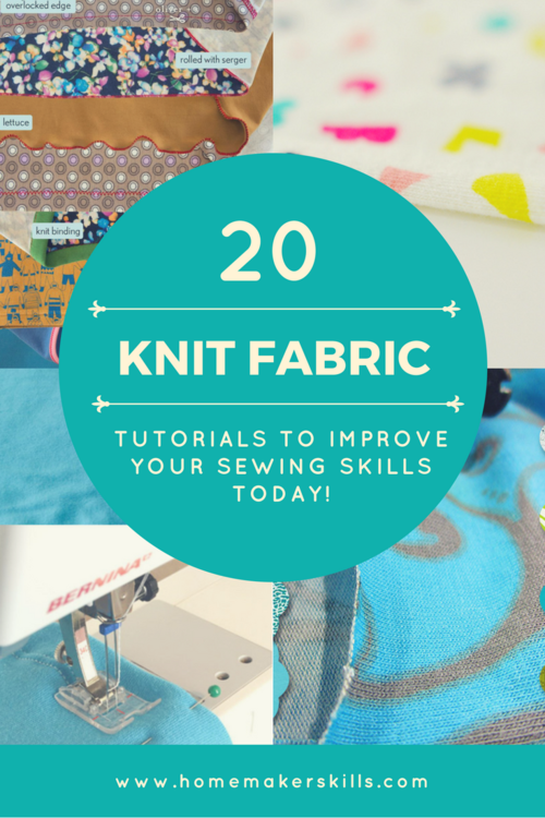20 Knit Fabric Useful Tutorials