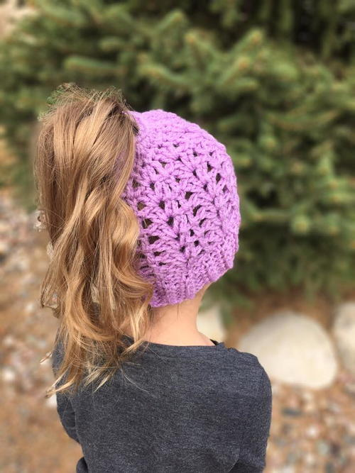 Lily Springtime Ponytail Hat