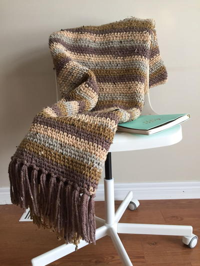 Winter Cottage Throw