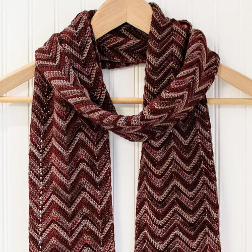 Three-Color Ripple Scarf
