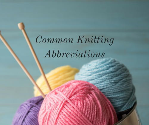Common Knitting Abbreviations