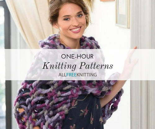 20 One Hour Knitting Patterns