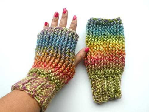 Up North Crochet Fingerless Mittens