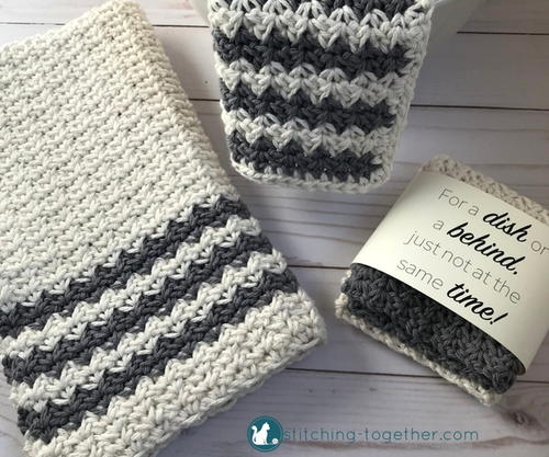 Crochet Country Dish Towel Allfreecrochetcom