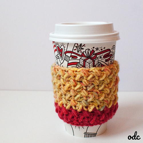 Baby Bean Stitch Coffee Cup Sleeve