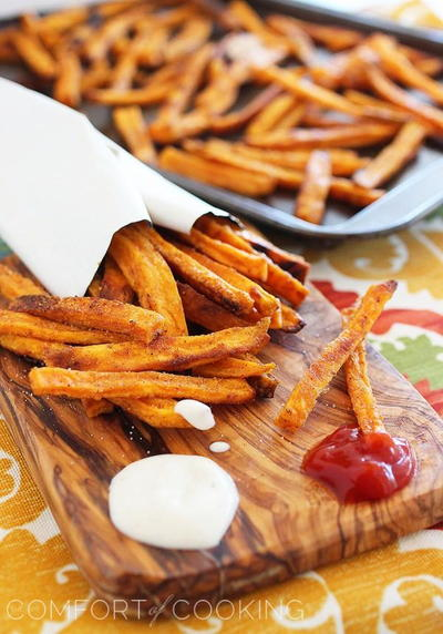 Crispy Baked Sweet Potato Fries Copycat