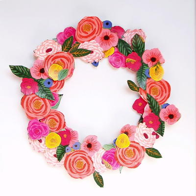 Gift Wrap Paper Wreath