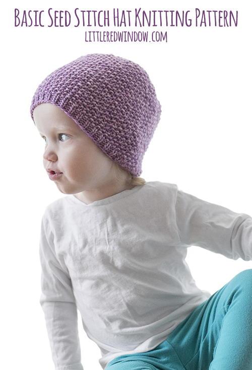 Easy Seed Stitch Baby Hat  c0d4697c316c