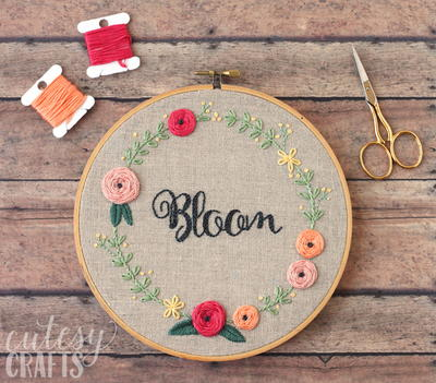 Bloom Embroidery Hoop